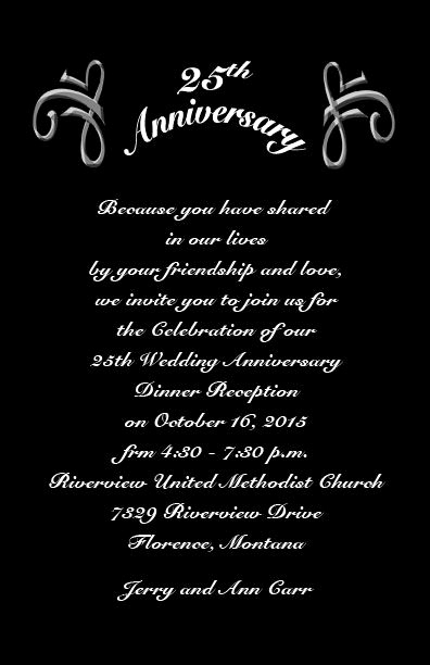 25th Anniversary Invitation Wording Best Of 25th Wedding Anniversary Invitations Wording