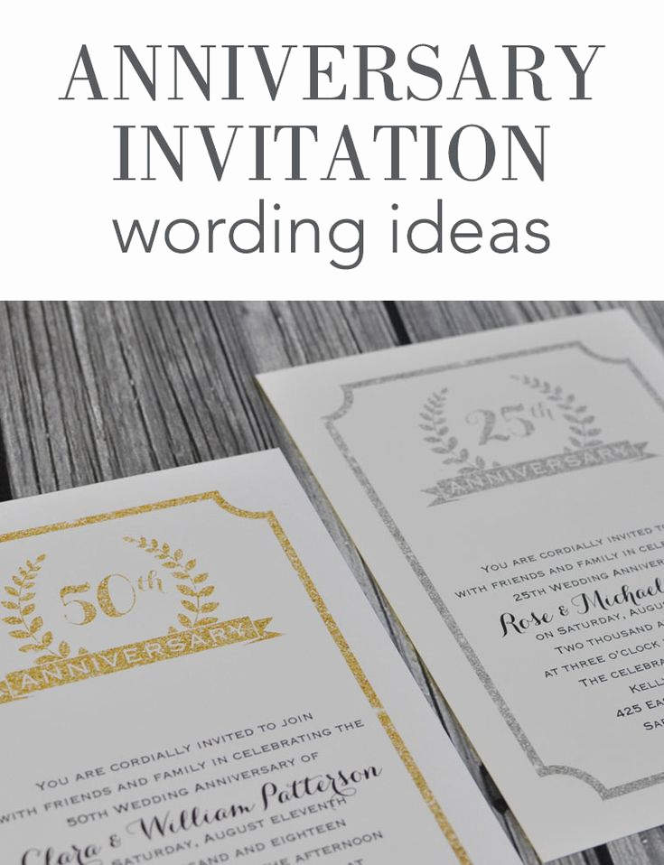 25th Anniversary Invitation Wording Elegant Wedding Anniversary Invitation Wording Ideas From