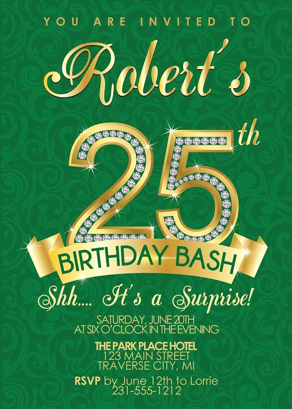 25th Birthday Invitation Wording Best Of Silver Age 25th Birthday Invitations – Free Printable