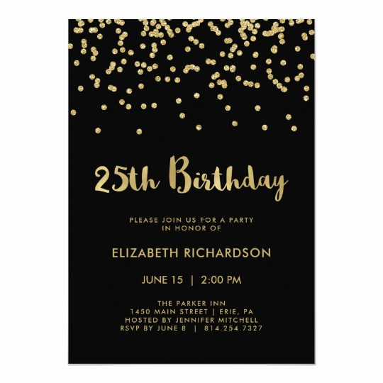 25th Birthday Invitation Wording Elegant 55th Birthday Party Invitation 55 and Confetti
