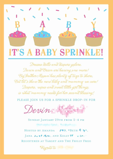 2nd Baby Shower Invitation Wording Best Of Baby Sprinkle Instead Of A Baby Shower for A 2nd Baby