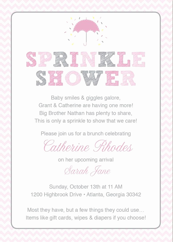2nd Baby Shower Invitation Wording Fresh 1000 Ideas About Baby Sprinkle Invitations On Pinterest