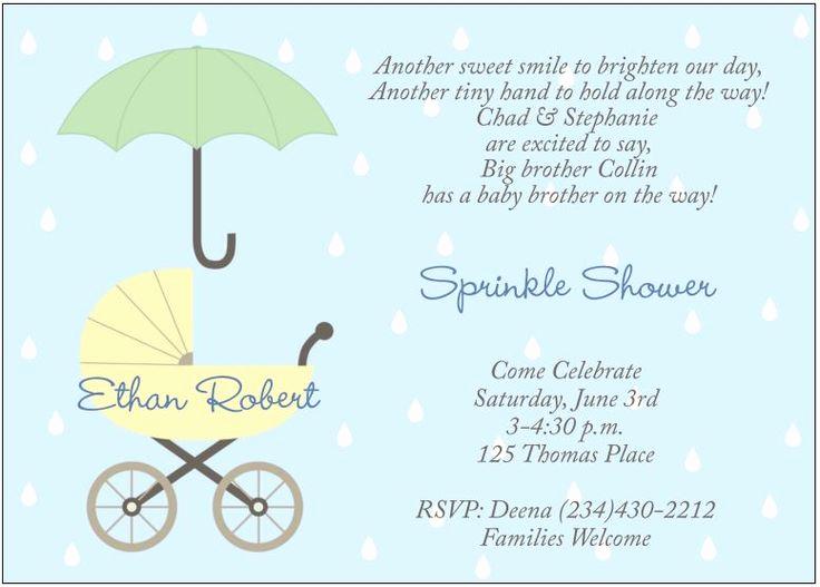 2nd Baby Shower Invitation Wording Inspirational 95 Best Images About Sprinkle Shower On Pinterest