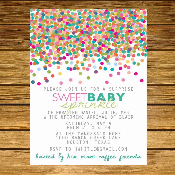 2nd Baby Shower Invitation Wording Inspirational Sprinkle Second Baby Shower Invitation Pink by