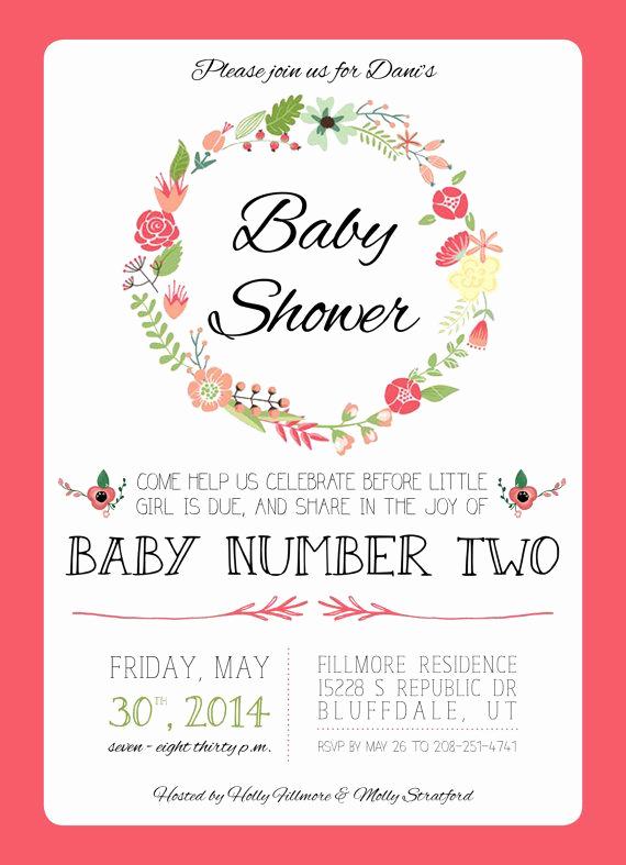 2nd Baby Shower Invitation Wording Luxury Best 25 Second Baby Showers Ideas On Pinterest