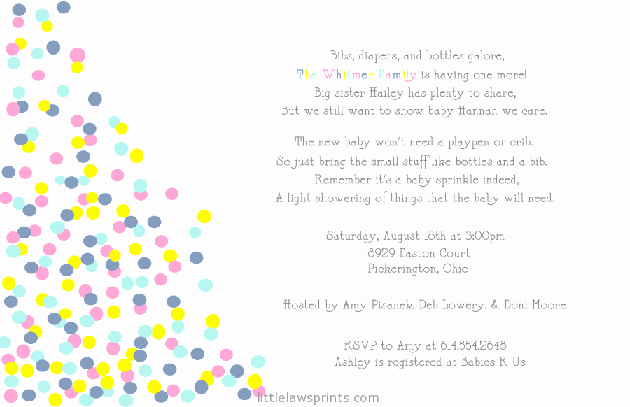 2nd Baby Shower Invitation Wording New Baby Shower Invitation Samples for A Baby Boy