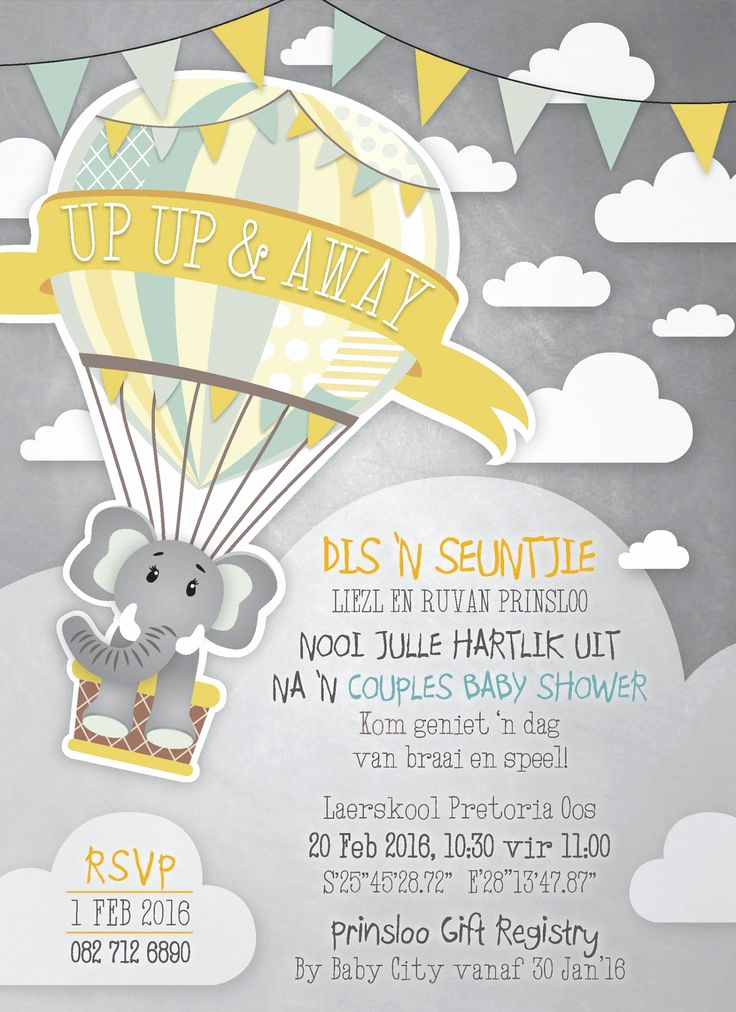 2nd Baby Shower Invitation Wording New Up Up and Away Baby Shower Invitation