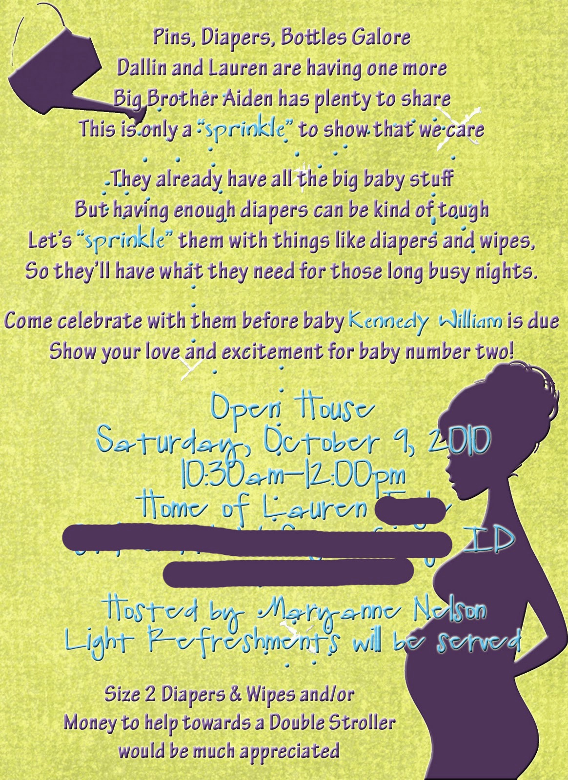 2nd Baby Shower Invitation Wording Unique Crafty Mommy Diva A Baby Sprinkle