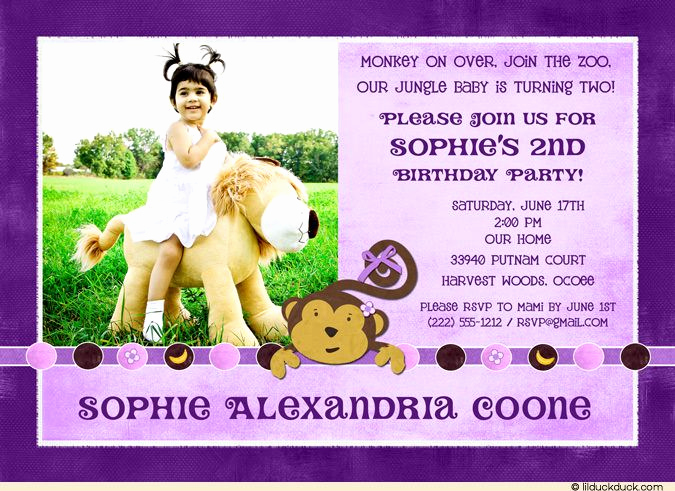 2nd Birthday Invitation Wording Awesome 2nd Birthday Party Invitation