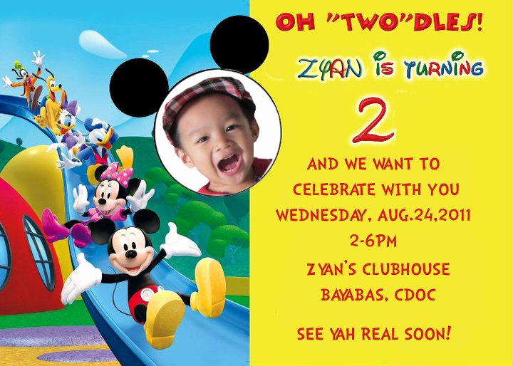 2nd Birthday Invitation Wording Beautiful Mickey Mouse Birthday Invitations