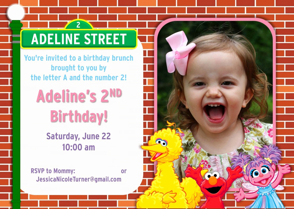 2nd Birthday Invitation Wording Fresh Sesame Street Birthday Party Ideas Games Food