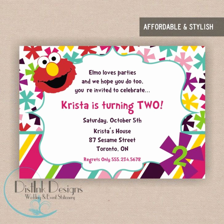 2nd Birthday Invitation Wording Inspirational Stylish 2nd Birthday Party Invitation Wording Elmo World