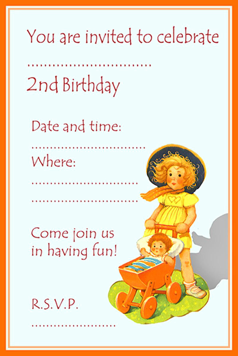 2nd Birthday Invitation Wording Lovely 18 Birthday Invitations for Kids – Free Sample Templates