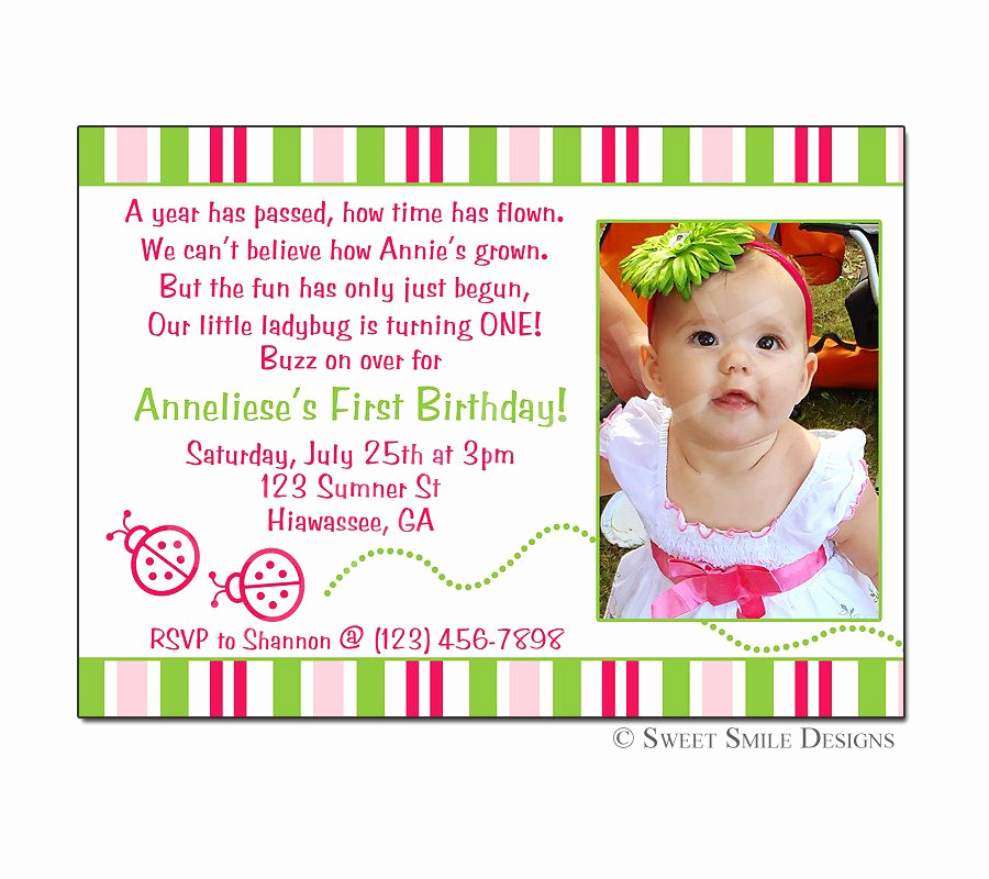 2nd Birthday Invitation Wording Luxury Birthday Invitation Ladybug Printable Digital File