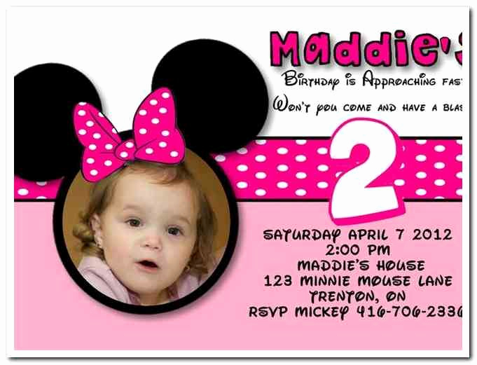2nd Birthday Invitation Wording New Download now Free Template Minnie Mouse Birthday