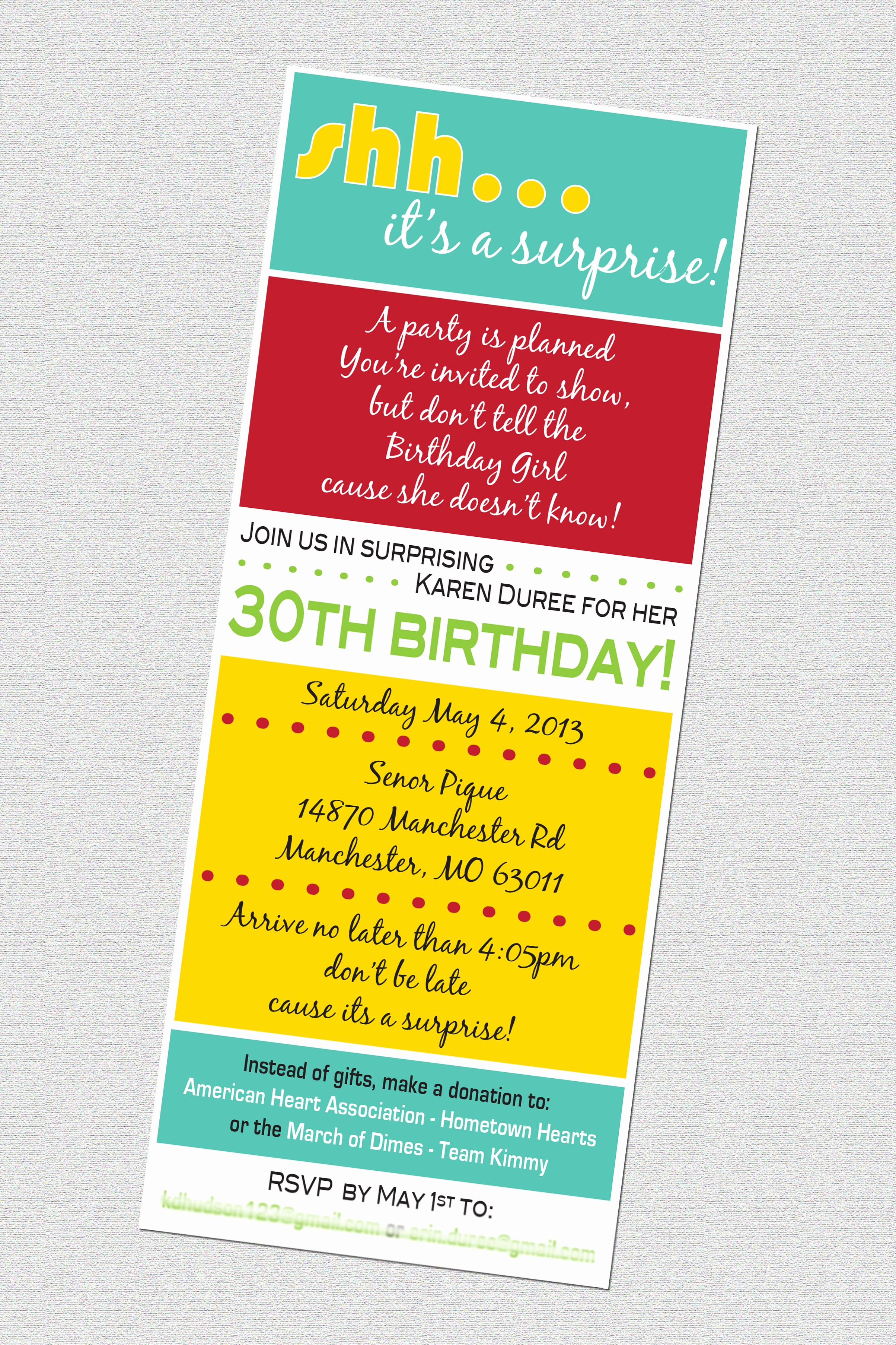 30th Birthday Invitation Ideas Beautiful 30th Birthday Surprise Party Invitation