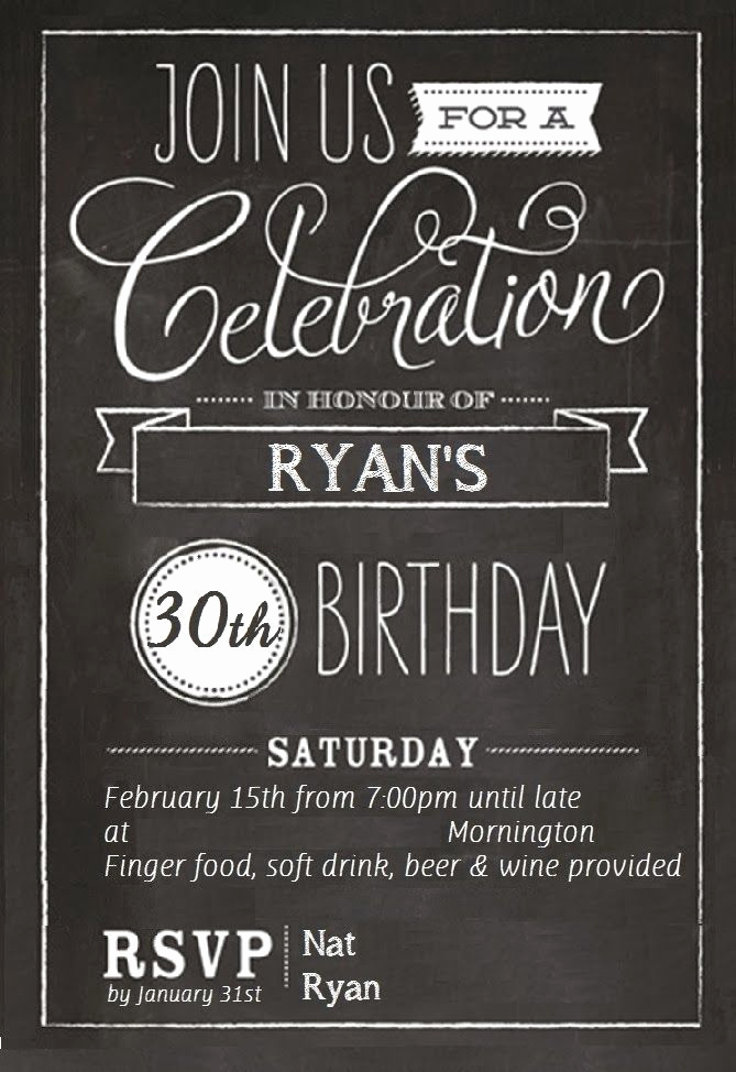 30th Birthday Invitation Ideas Beautiful Free 30th Birthday Invitations Templates