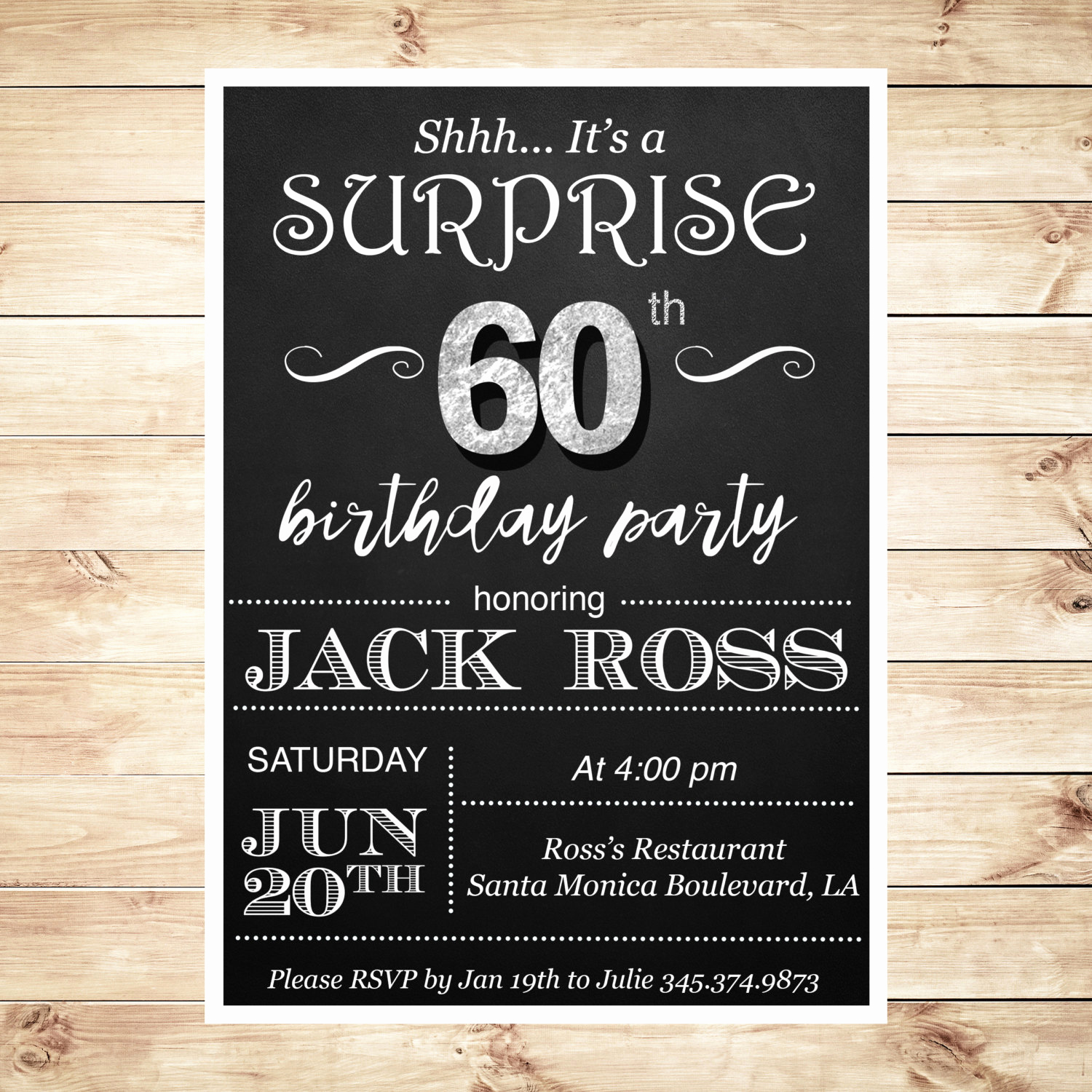 30th Birthday Invitation Ideas Best Of 60th Birthday Surprise Party Invitations by Diypartyinvitation