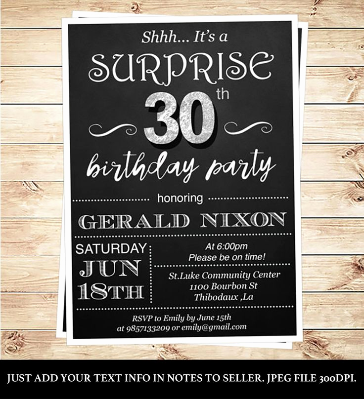 30th Birthday Invitation Ideas Inspirational Best 25 Surprise Birthday Invitations Ideas On Pinterest