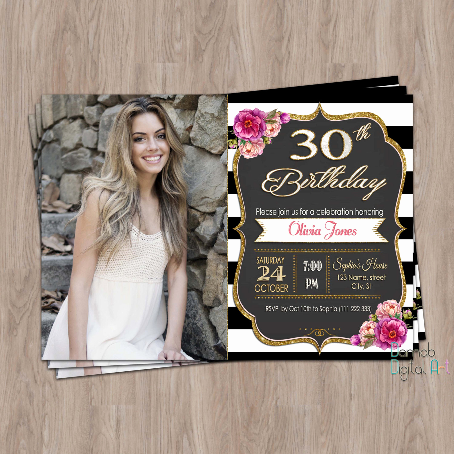 30th Birthday Invitation Ideas Luxury 30th Birthday Invitation 30th Birthday Invitation for Women
