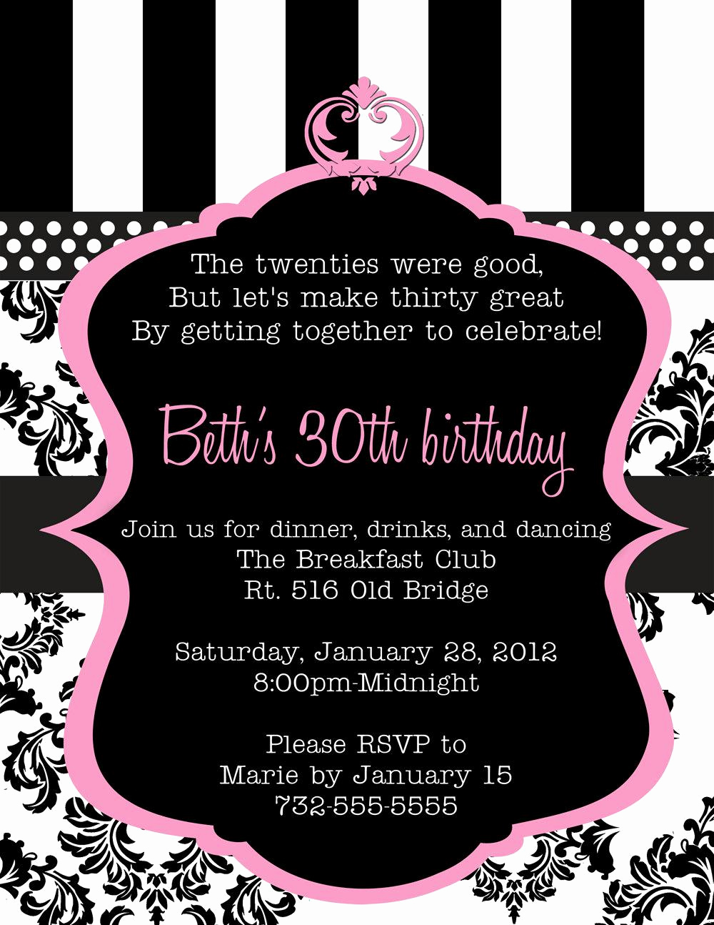 30th Birthday Invitation Ideas Unique 20 Interesting 30th Birthday Invitations themes – Wording