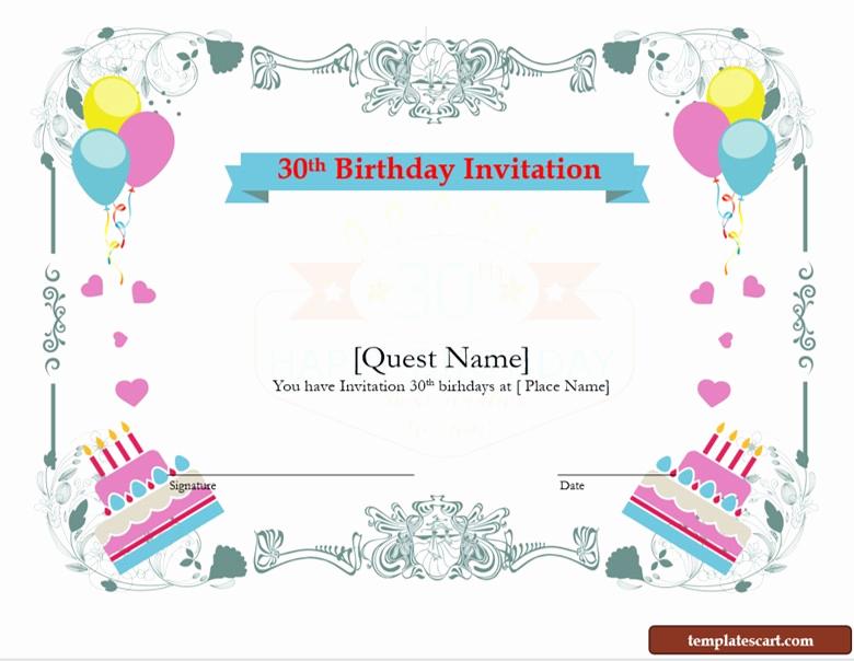 30th Birthday Invitation Sayings Elegant Download Free 30th Birthday Invitation Wording Templates