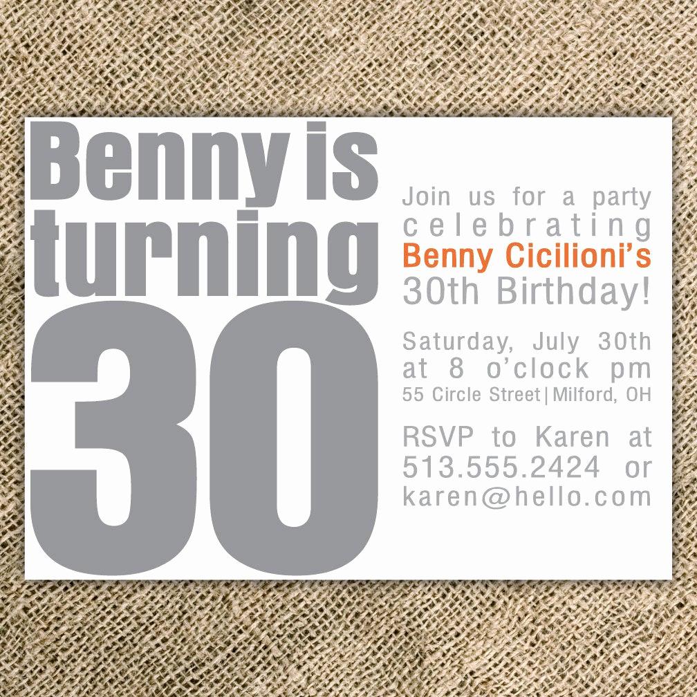 30th Birthday Invitation Sayings Lovely 30th Birthday Party Invitation by Kindlyreply On Etsy