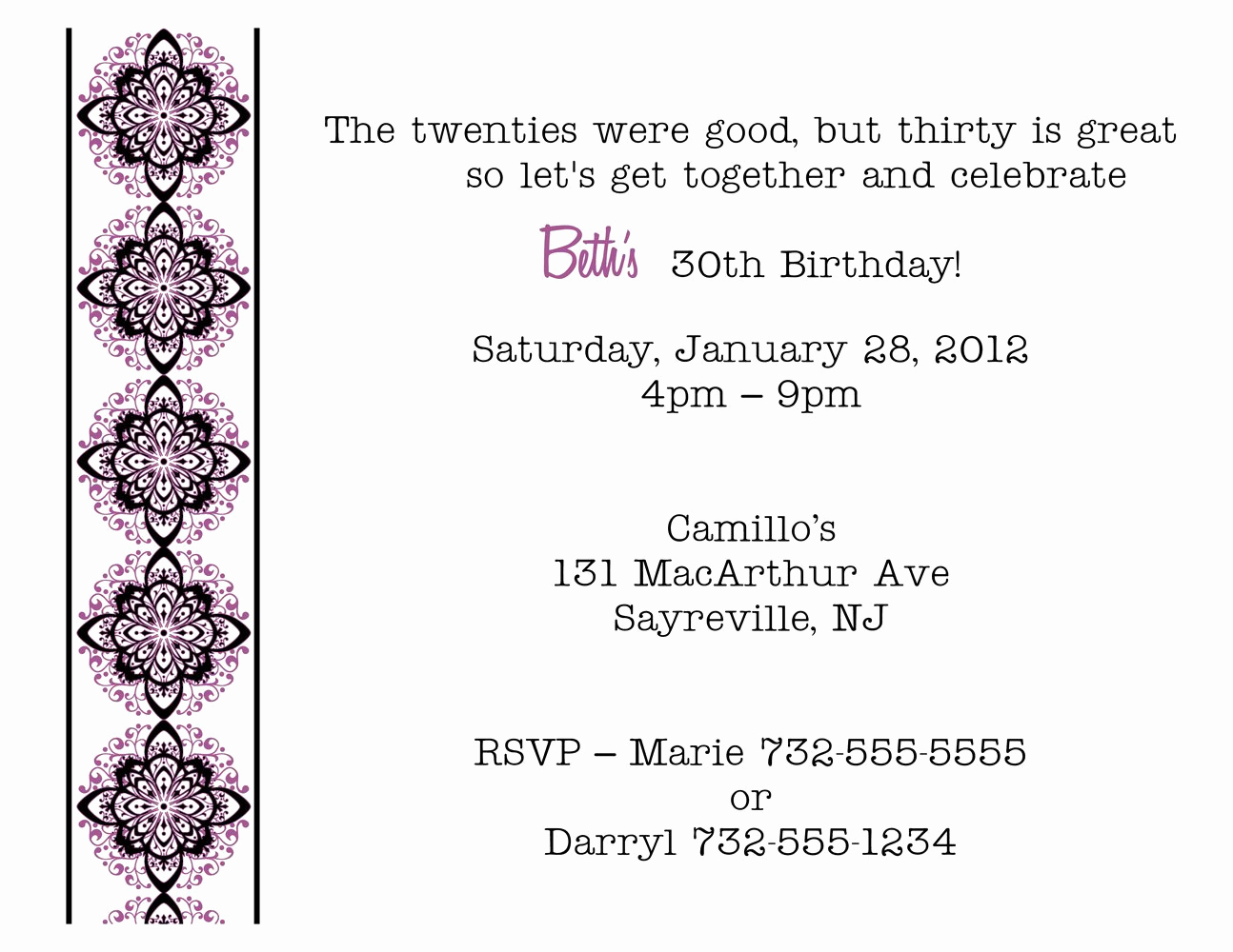 30th birthday quotes for invitations