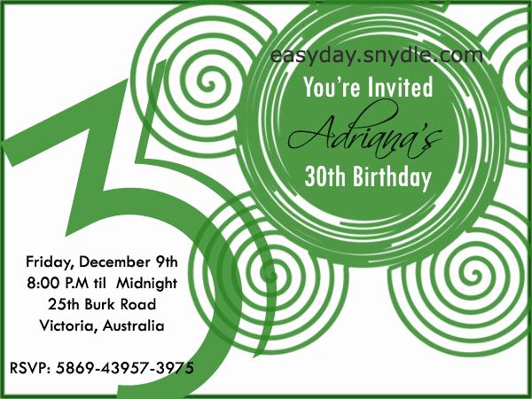 30th Birthday Invitation Sayings Luxury Birthday Invitation Wording Easyday