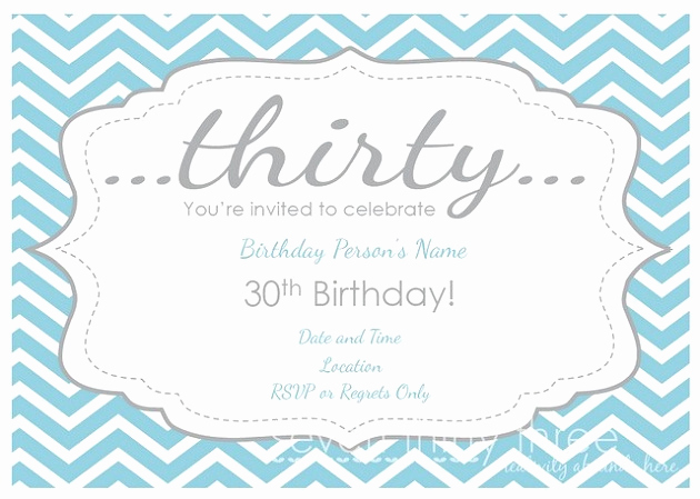 30th Birthday Invitation Templates Awesome Free 30th Birthday Printables Celebrations at Home