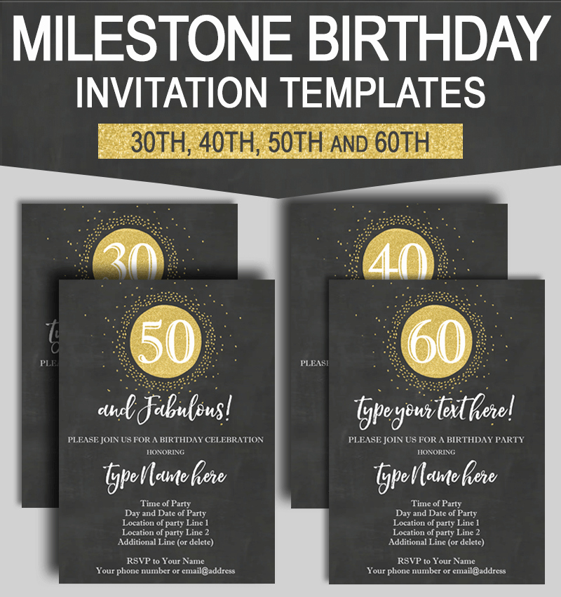 30th Birthday Invitation Templates Best Of Milestone Birthday Invitation Templates