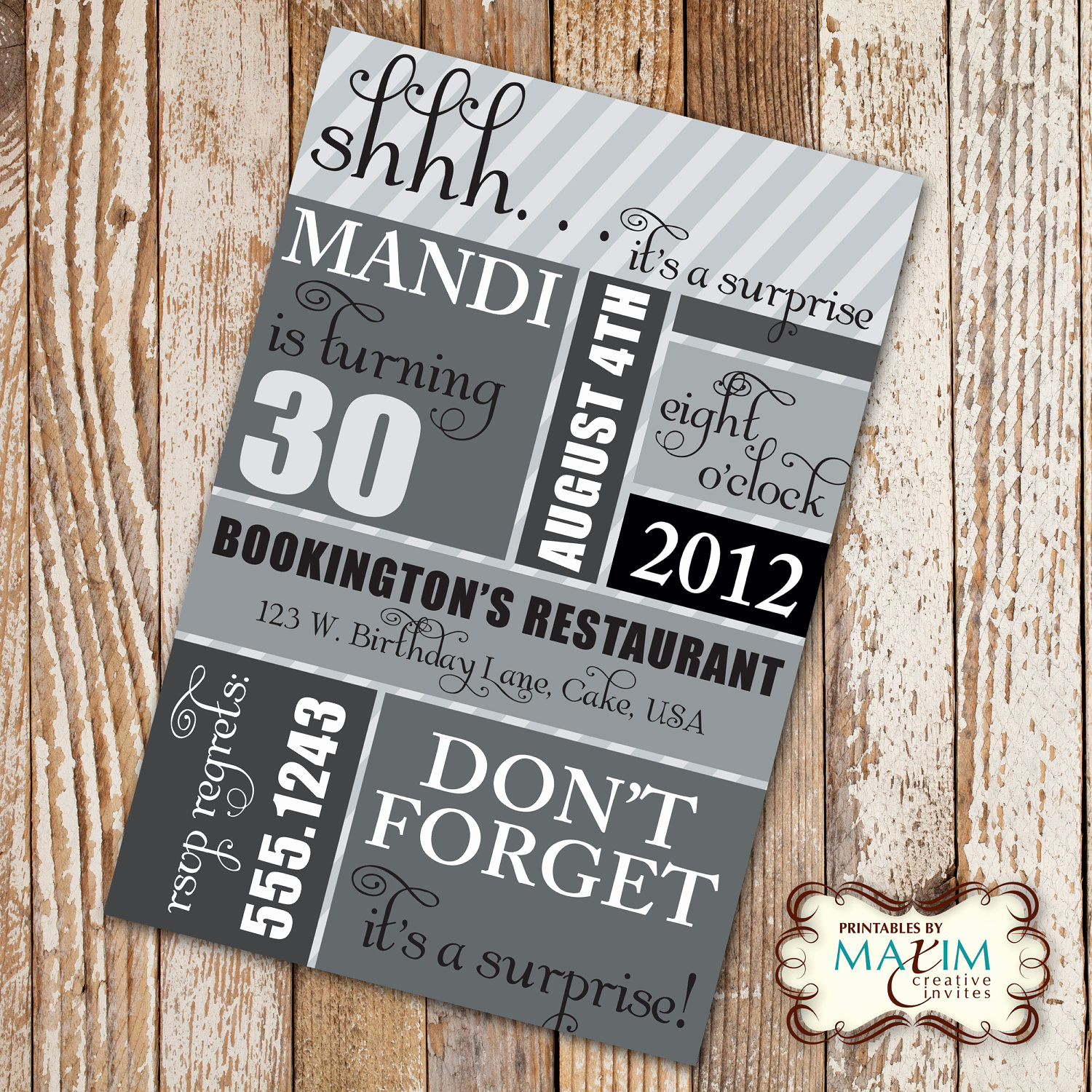 30th Birthday Invitation Templates Best Of Surprise 30th Birthday Party Invitations