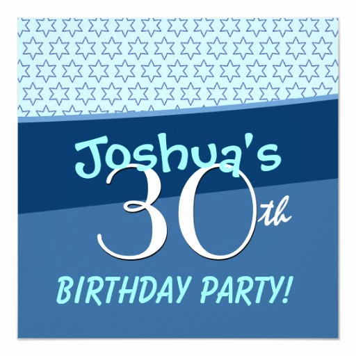 30th Birthday Invitation Templates Elegant 30th Birthday Party Festive Star Pattern Template
