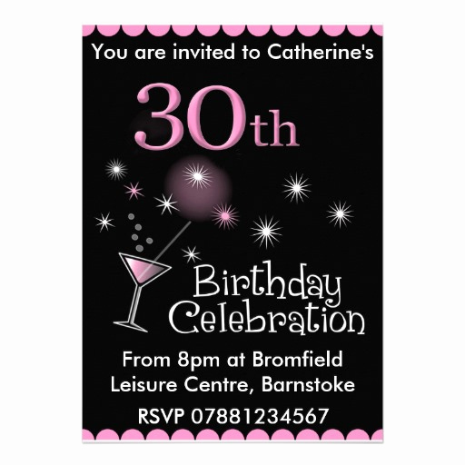 30th Birthday Invitation Templates Elegant Free 30th Birthday Invitations Templates