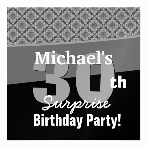 30th Birthday Invitation Templates Inspirational 30th Surprise Birthday Party Invitation Template