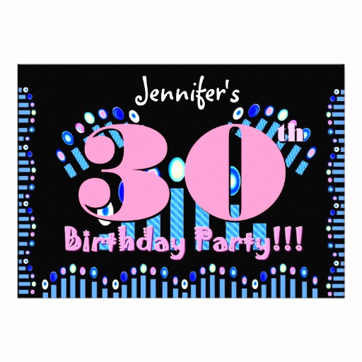 "30th Birthday Invitation Templates Lovely 30th Birthday Party Invitation Template 5"" X 7"" Invitation"