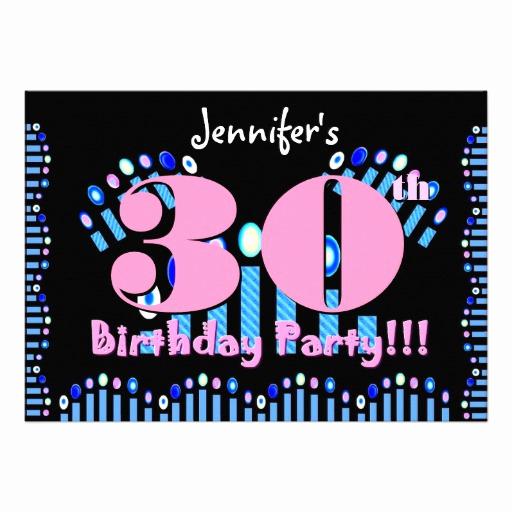 "30th Birthday Invitation Templates Lovely 30th Birthday Party Invitation Template 5"" X 7"" Invitation"