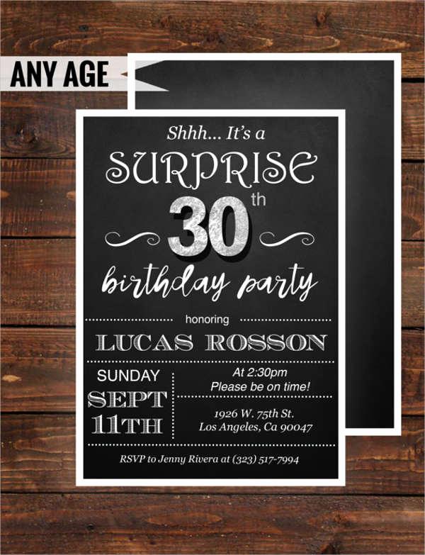 30th Birthday Invitation Templates Luxury 15 Birthday Invitation Templates In Pdf