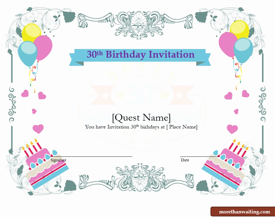 30th Birthday Invitation Templates New Download Free 30th Birthday Invitations Templates for Him