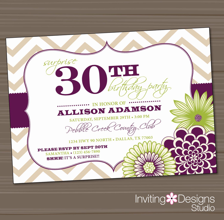 30th Birthday Invitation Templates Unique Birthday Party Invitation 20th 25th 30th 40th 50th