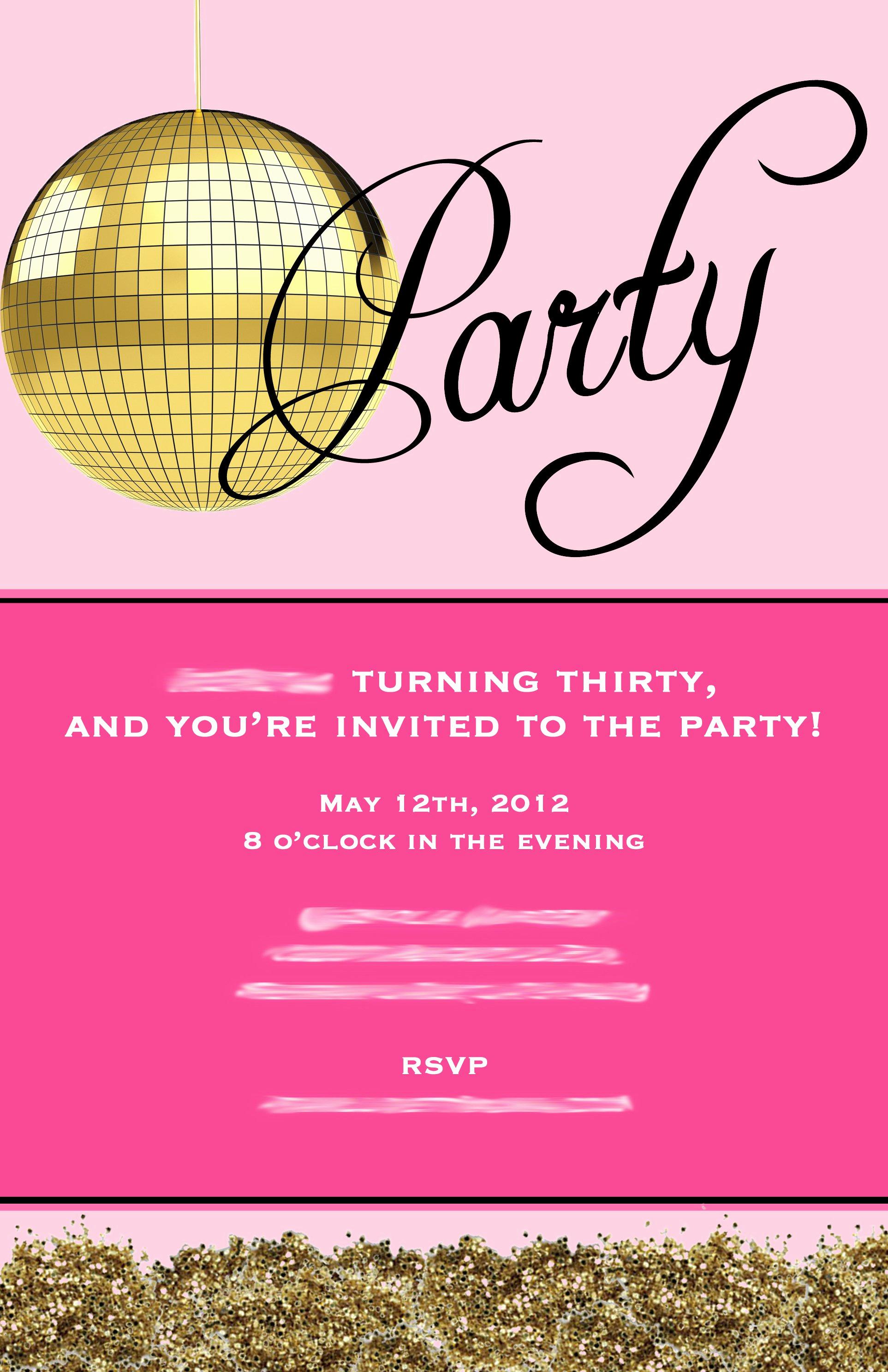 30th Birthday Invitation Templates Unique Creative 30th Birthday Invitation Wording