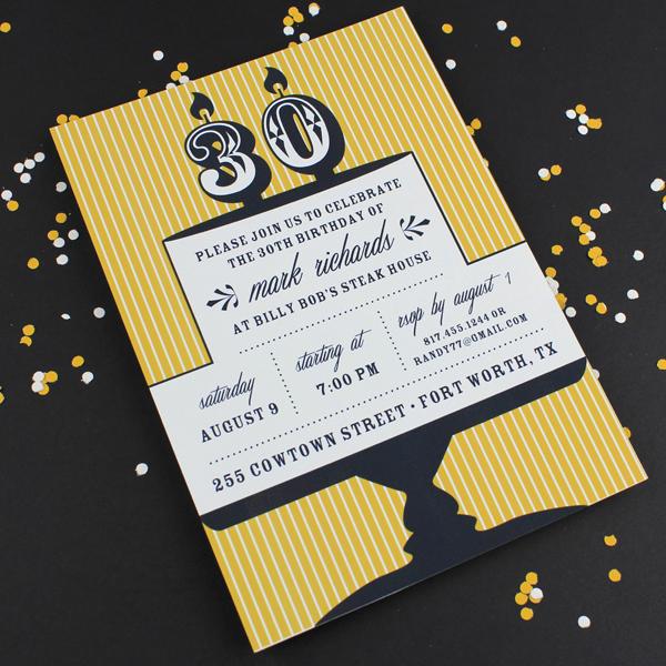 30th Birthday Invitation Templates Unique Milestone Candle Birthday Invitation Template 30th