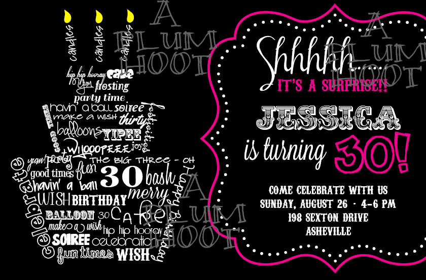 30th Birthday Invitation Wording Elegant 30th Birthday Invitation Surprise Party Can Be Customized