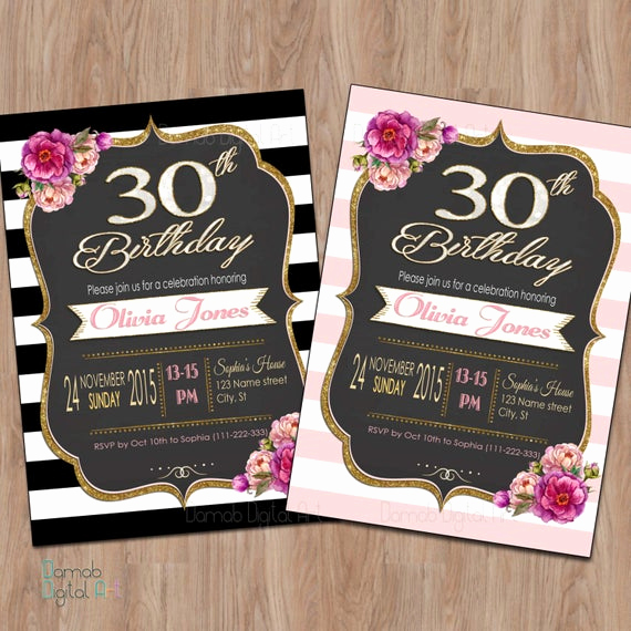 30th Birthday Invitation Wording Funny Awesome 30th Birthday Invitation 30th Birthday Invitation for Women