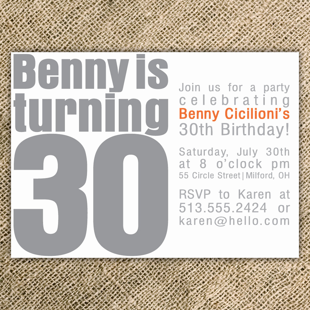 30th Birthday Invitation Wording Funny Elegant 30th Birthday Party Invitation