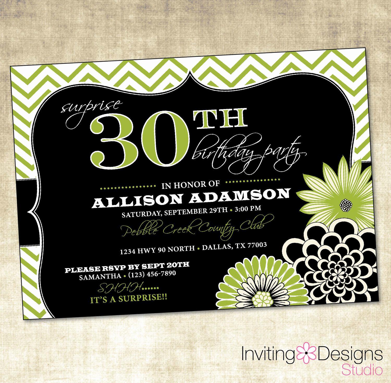 30th Birthday Party Invitation Wording Unique Birthday Party Invitation 20th 25th 30th 40th 50th