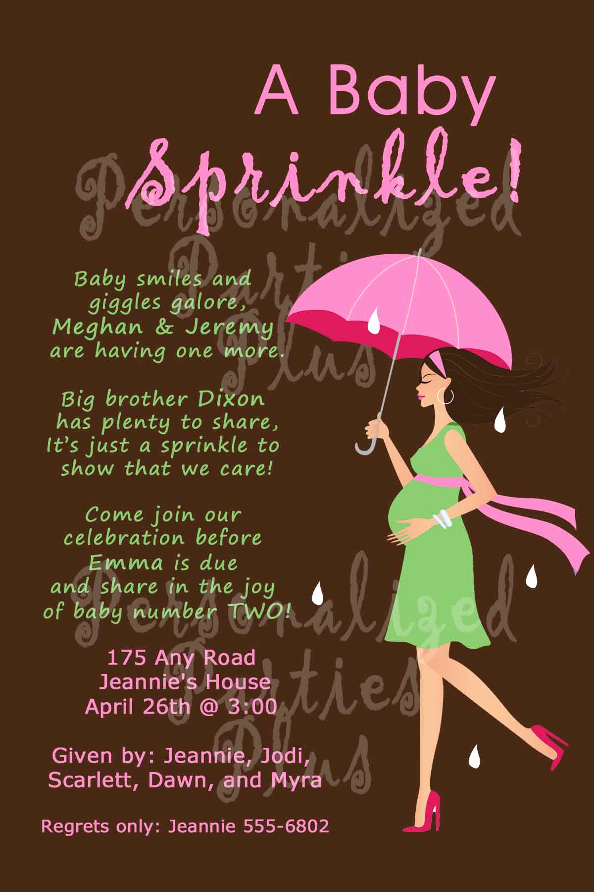 3rd Baby Shower Invitation Wording Awesome Baby Sprinkle Invitation for Second Baby