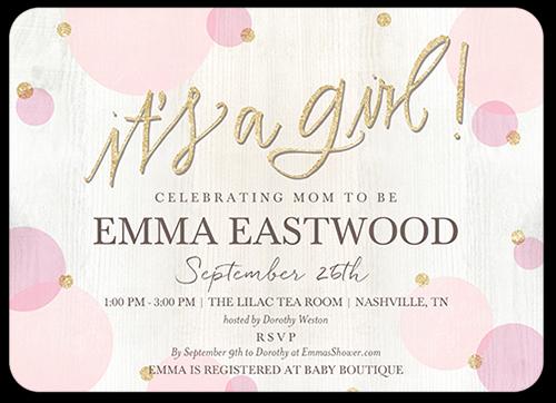 3rd Baby Shower Invitation Wording Inspirational Newborn Confetti Girl Custom Baby Shower Invitations