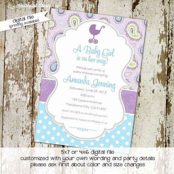 3rd Baby Shower Invitation Wording Lovely 25 Best Ideas About Paisley Baby Showers On Pinterest