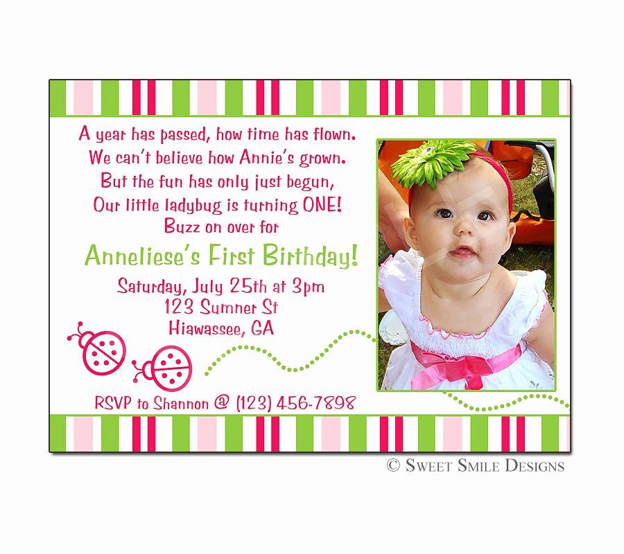 3rd Birthday Invitation Wording Best Of Birthday Invitation Ladybug Printable Digital File